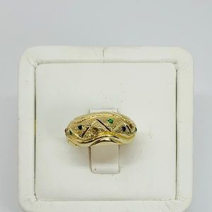 Real 10k Gold Women's Ring Multi color Size 6
